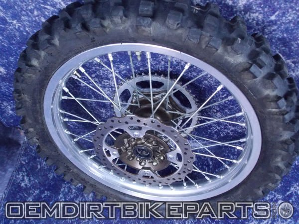 04 05 06 07 08 09 10 11 12 13 14 15 16 kawasaki dirt bike  rear wheel complete