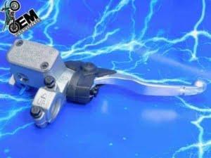 KLX400 KLX400R KLX400SR Brembo Front Brake Lever Complete Upgrade Master Cylinder Reservoir Assembly 2003
