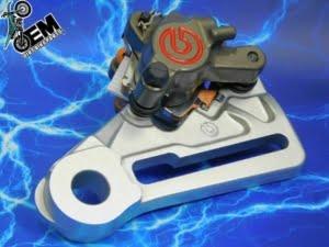 KTM 505 Billet Rear Brake Caliper Factory HARD Parts Complete Brembo 125-547 2007-2009